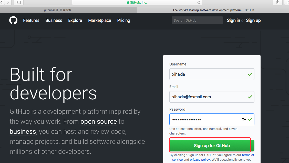 github sign in